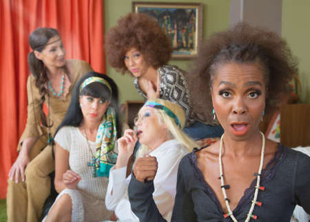 middle joint: Black woman surprised with group of adults smoking pot