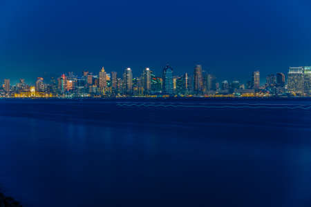 cereus: San Diego Skyline at Early Evening from Harbor Island