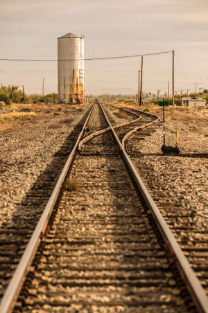switcher: Railroad tracks and siding in the historic American west