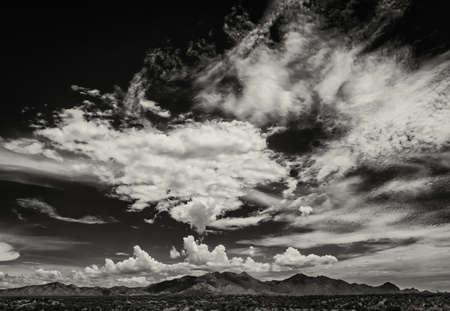 buildup: Scary cloud buildup in sky during monsoon season in Arizona