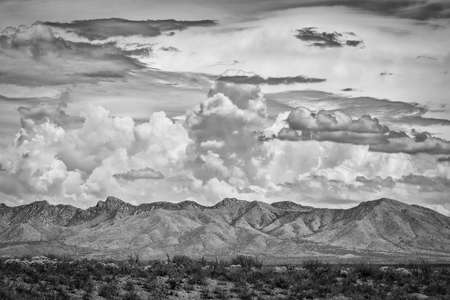 monsoon clouds: Arizona mountains with dramatic monsoon clouds above