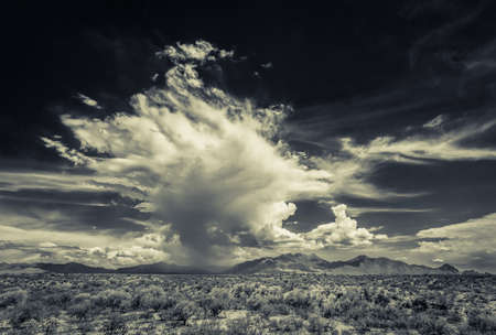 monsoon clouds: Dramatic clouds in desert monsoon build up Stock Photo