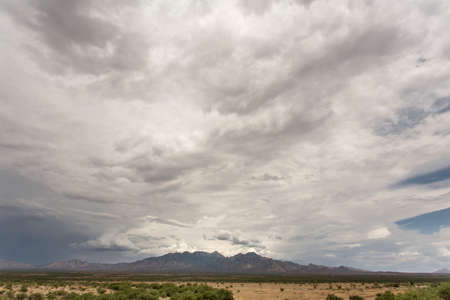 monsoon clouds: Cloud and humidity buildup in Arizona desert
