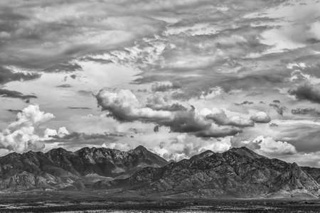 monsoon clouds: Monsoon clouds forming around arizona  mountain in summer