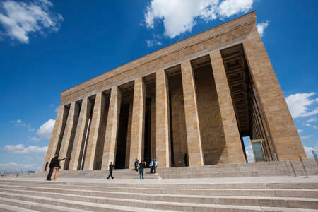ataturk: ANKARA, TURKEY – APRIL 15: Unidentified visitors take photos at the mausoleum of Ataturk on April 15, 2012 in Ankara, Turkey prior to Anzac Day.