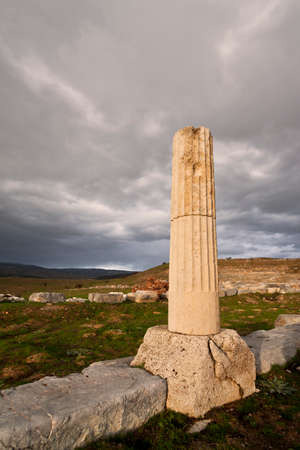 ionic: Remains of Ionic column near ampitheater at Antioch Pisidian in Turkey