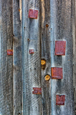 metal textures: Weathered barn wood and metal patch textures