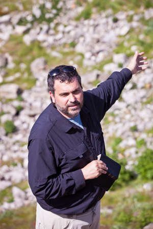 clergy: American or European Christian Pastor at Biblical Site in Turkey