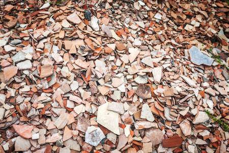 greek pot: Migliaia di frammenti di ceramica a scavo archeologico in Alessandria Troade Archivio Fotografico