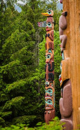 tlingit: Tlingit Eagle Pole at Saxman Village in Alaska, United States