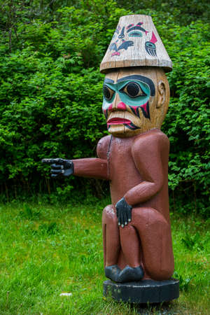tlingit: Tlingit Pointing Figure at Saxman Village near Ketchikan