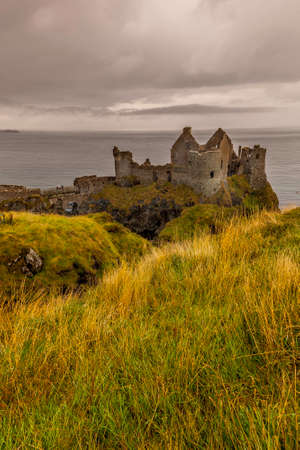 Dunluce Castle near Bushmills and the Giants Causeway in Northern Ireland