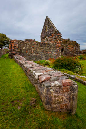 Ruins of low wall at the nunnery on the island of Iona Stock fotó