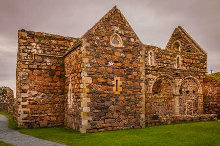 Exterior of the nunnery on the island of Iona Standard-Bild - 120888254