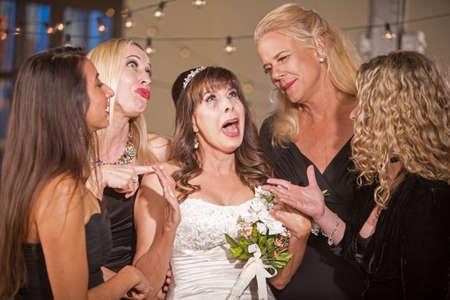 Upset mature bride Standard-Bild - 122101272