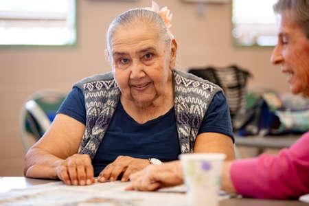 Cheerful Women in a Senior Activity Center