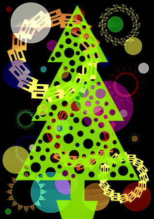 abstract image of a creative Christmas green beauty Stock Photo - 9330509