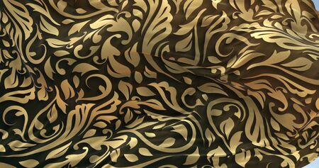 fabric pattern textile cloth gold fabric waving