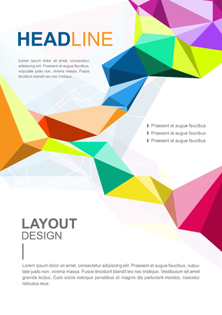vector brochure template, polygon design layout A4 size Illustration