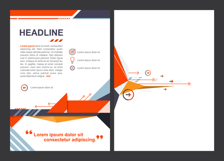vector brochure template, arrow design layout A4 size Illustration