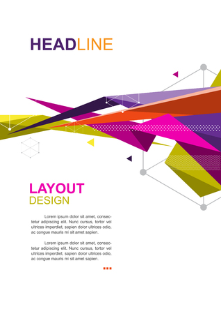 vector brochure template, polygon design, annual report layout A4 size