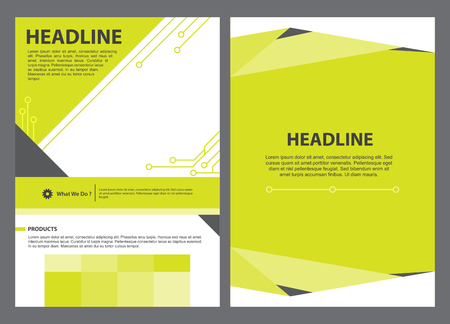 vector brochure template design, Layout A4 size