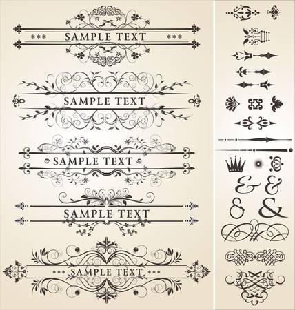 calligraphic design elements Stock Vector - 9746696