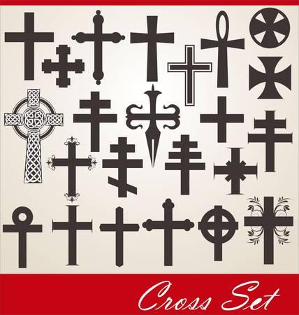 cross set Vector