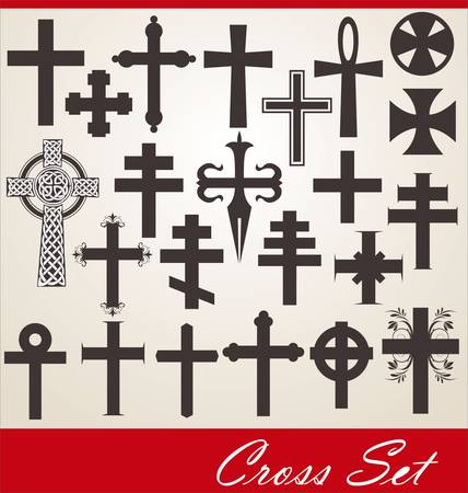 gold cross: cross set