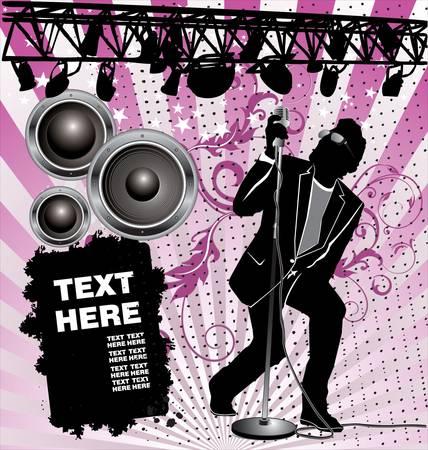 Rock Singer Stock Vector - 9746737