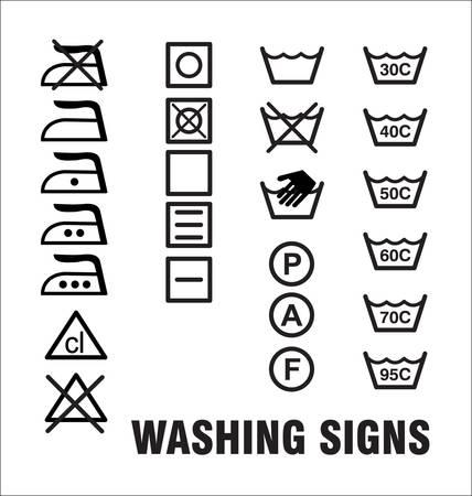 body temperature: Washing Signs Illustration