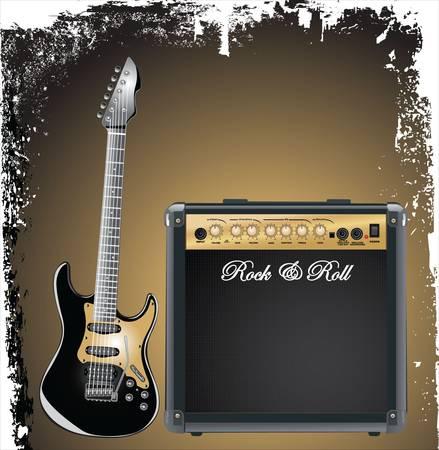 gitarre: Gitarre-combo Illustration