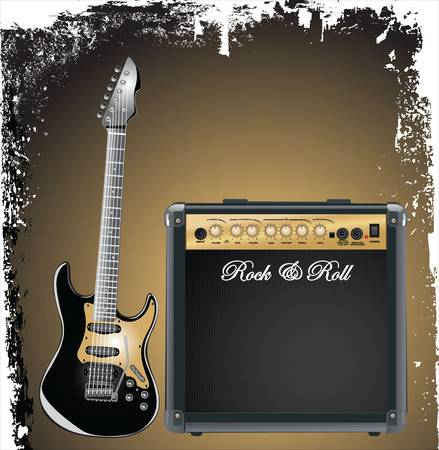 Guitar combo Stock Vector - 9746753