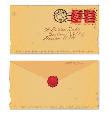 Old Envelope Stock Vector - 9746749
