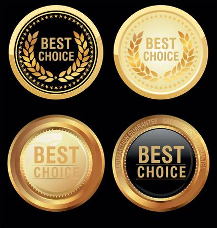 best: Best choice emblem Illustration