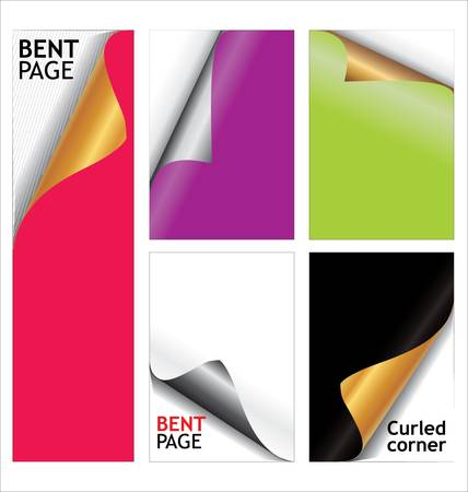 Bent page elements Stock Vector - 9746706