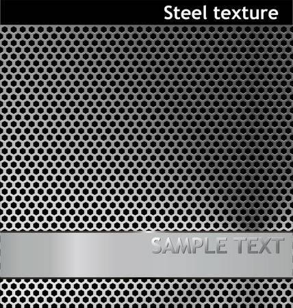 Textura de acero perforada