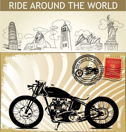 bobber: Ride Around The World Illustration