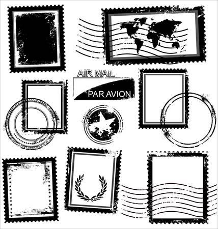 postage: Blank Grunge Postage