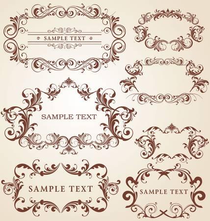vendange: Cadres Vintage Illustration