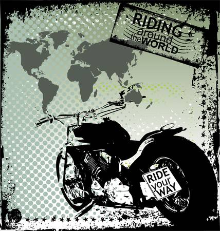 Riding Around The World  Stock Vector - 9746747
