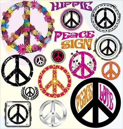 the peace: S�mbolos de paz Vectores