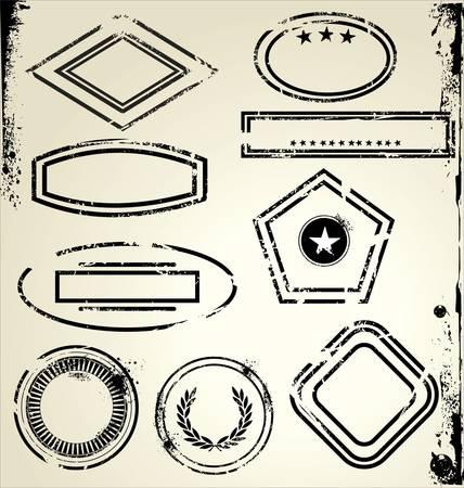 stempel reisepass: Grunge Briefmarken