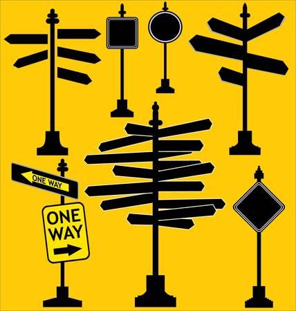 pointer stick: Blank Indicatore di direzione Vettoriali