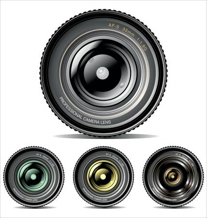 photo realistic: Camera Lens - set Illustration