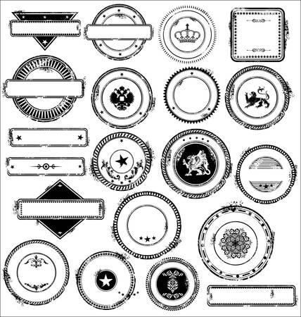 stempel reisepass: Zeichen Briefmarken Satz