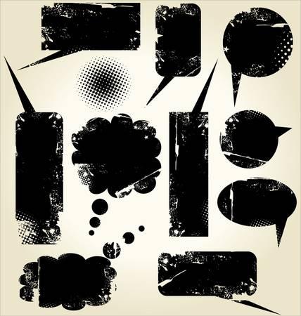 distort: Formas de llamada sucio de grunge Vectores