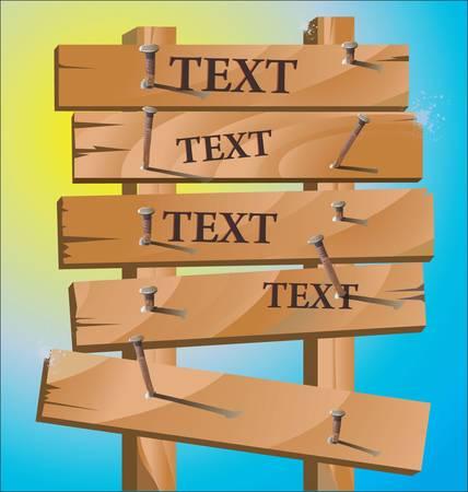 wooden post: Wooden Sign Illustration