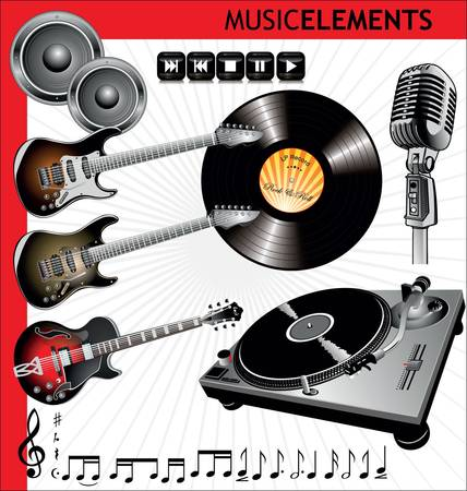 Music elements Stock Vector - 9746812