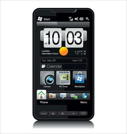 htc: Modern Mobile Phone  Illustration